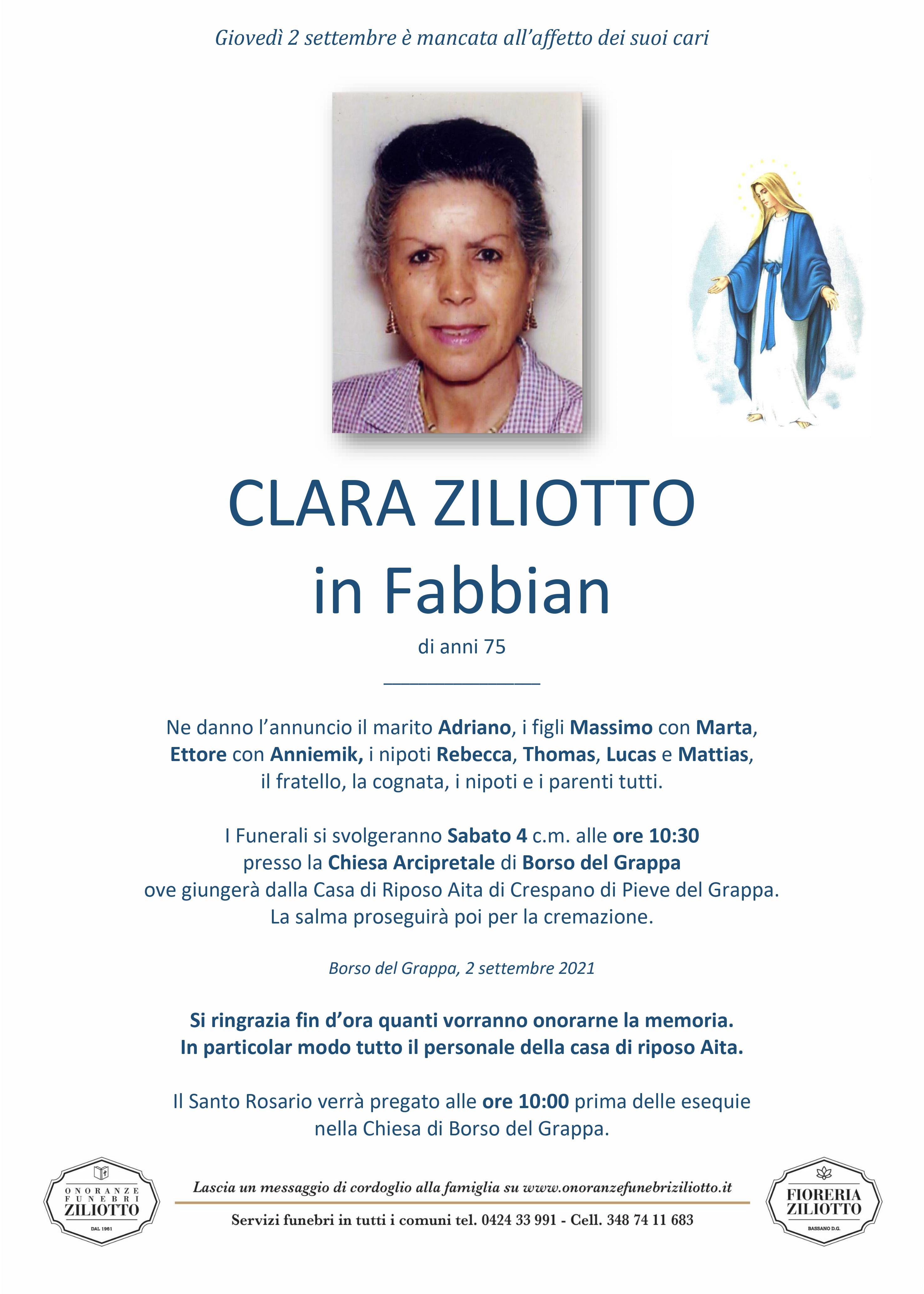 Clara Ziliotto - 75 anni - Borso del Grappa