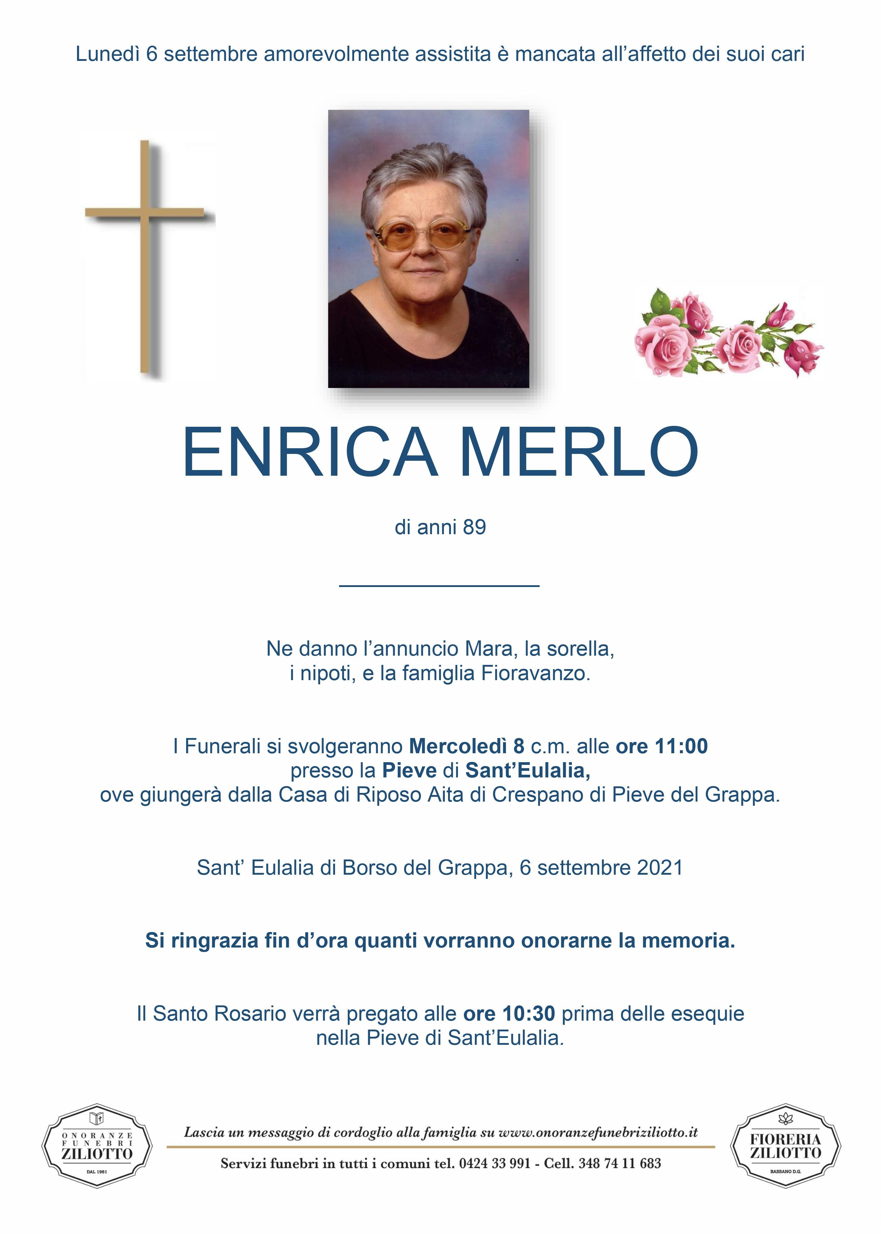Enrica Merlo - 89 anni - Borso del Grappa